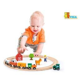 Viga Toys Железная дорога 19 деталей