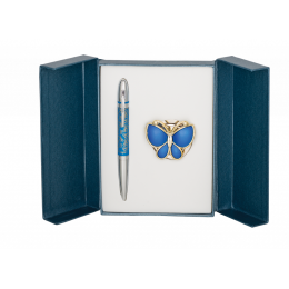 Langres набор ручка + крючок для сумки Papillon Синий