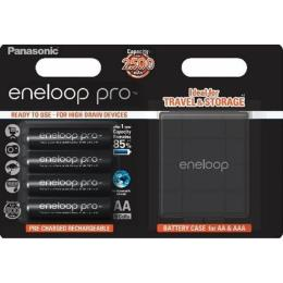 PANASONIC Eneloop Pro AA 2500 mAh * 4 + Case