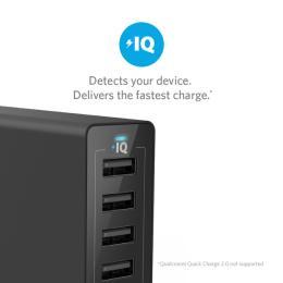 Anker PowerPort 6 - 60W 6-port USB Power IQ V3 (Black)