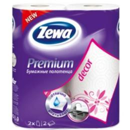 Zewa Premium 2-слойные Декор Белые 2 шт