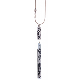 Langres с цепочкой Lace Белый корпус в подарочном футляр