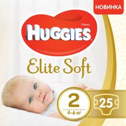 Huggies Elite Soft 2 (4-6 кг) 25 шт