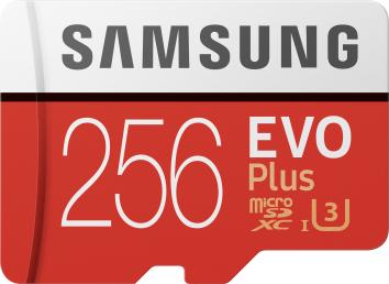 Samsung 256GB microSDXC class 10 UHS-I U1 Evo Plus V2
