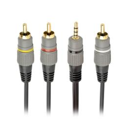 Cablexpert 3.5 Jack (4pin) to 3RCA 1.5m