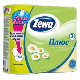 Zewa Plus 2-слойная Ромашка Желтая 4 шт