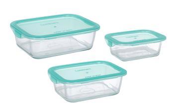 Luminarc Keep'n Box Lagoon набор 3шт прямоуг. 380мл/820мл/1