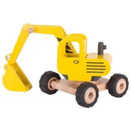 Goki деревянная Экскаватор (желтый)