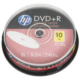 HP DVD+R 8.5GB 8X DL IJ PRINT 10шт Spindle