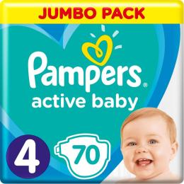 Pampers Active Baby Maxi Размер 4 (9-14 кг), 70 шт.