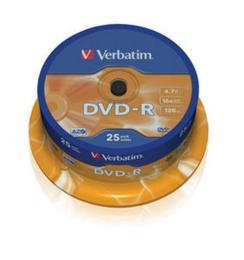 Verbatim 4.7Gb 16X CakeBox 25шт
