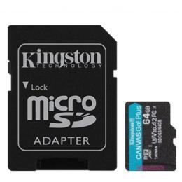 Kingston 64GB microSDXC class 10 UHS-I U3 A2 Canvas Go Plus
