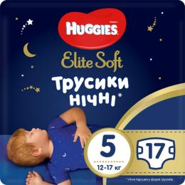 Huggies Elite Soft Overnites 5 (12-17 кг) 17 шт