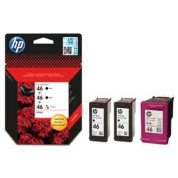 HP DJ No. 46 Ultra Ink Advantage 2Black+1Color