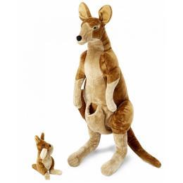 Melissa&Doug Плюшевые мама и ребенок кенгуру