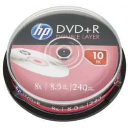 HP DVD+R 8.5GB 8X DL 10шт Spindle
