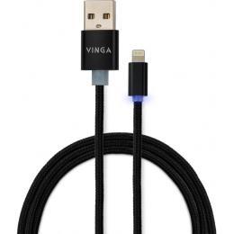 Vinga USB 2.0 AM to Lightning 1m LED black