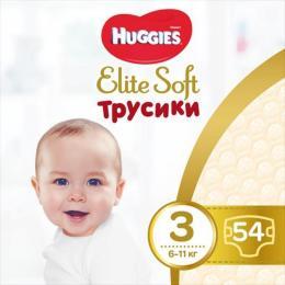 Huggies Elite Soft Pants M размер 3 (6-11 кг) Mega 54 шт