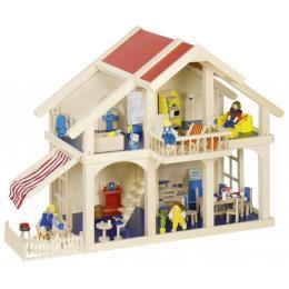 Goki Кукольный домик 2 этажа с внутреним двориком