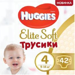 Huggies Elite Soft Pants L размер 4 (9-14 кг) Mega 42 шт