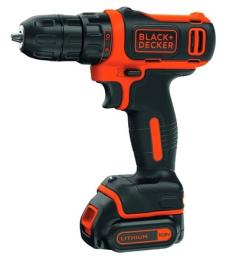 Black&Decker BDCDD12, 10.8V, 26Нм, Li-Ion