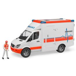 Bruder МВ Sprinter скорая помощь + фигурка водителя, М1:1