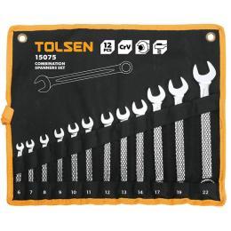 Tolsen ключей комбинированных в чехле 12 шт