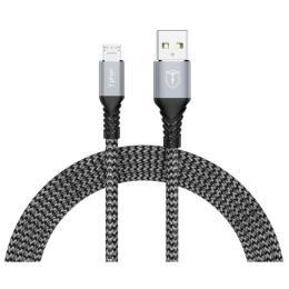 T-phox USB 2.0 AM to Micro 5P 1.0m Jagger T-M814 Grey