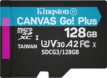 Kingston 128GB microSD class 10 UHS-I U3 A2 Canvas Go Plus