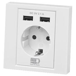 REAL-EL Розетка с 2*USB 10.5W