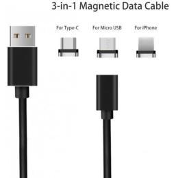 XoKo USB 2.0 AM to Lightning + Micro 5P + Type-C 1.0m M