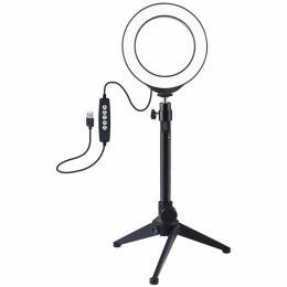 """Puluz Ring USB LED lamp PKT3049B 4.7"""" + table tripod"""