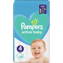 Pampers Active Baby Maxi Размер 4 (9-14 кг), 49 шт.