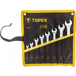 Topex ключей комбинированных, 6-19 мм, 8 шт.