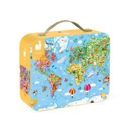 Janod двусторонний Карта мира 300 элементов