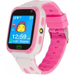 ATRIX iQ2300 IPS Cam Flash Pink Kids smart watch-phone,