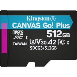 Kingston 512GB microSDXC class 10 UHS-I/U3 Canvas Go Plus