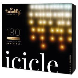 Twinkly Smart LED Icicle AWW 190, BT + WiFi, Gen II, IP44