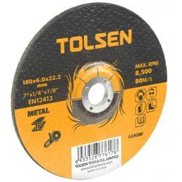 Tolsen шлифовальный по металлу 115х6.0*22.2мм