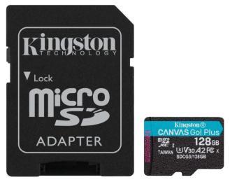 Kingston 128GB microSDXC class 10 UHS-I U3 A2 Canvas Go Plu