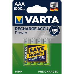 Varta AAA Rechargeable Accu 1000mAh * 4