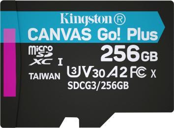Kingston 256GB microSDXC class 10 A2 U3 V30 Canvas Go Plus