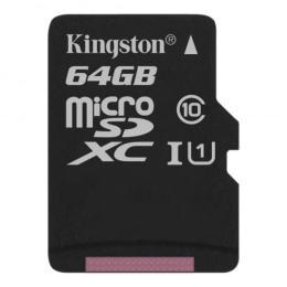 Kingston 64GB microSDXC Class 10 Canvas Select Plus 100R A1