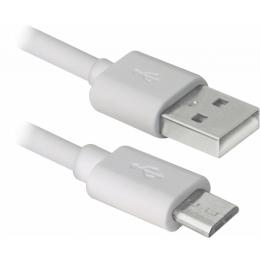 Defender USB08-10BH USB - Micro USB, white, 3m