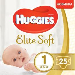 Huggies Elite Soft 1 (3-5 кг) 25 шт