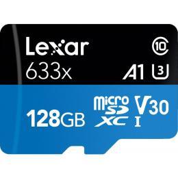 Lexar 128GB microSDXC class 10 UHS-I 633x