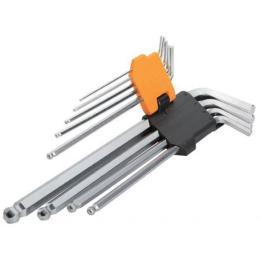 Tolsen удлиненных ключей Torx с отвором 9 шт Т10-Т50