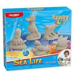 Paulinda Песок для творчества Морская жизнь-животные 300г 5