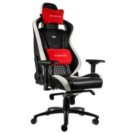 Noblechairs EPIC Real Leather Blck/Wht/Red