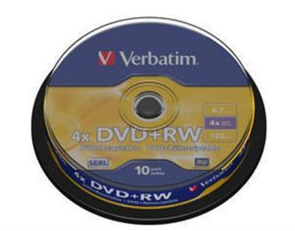 Verbatim 4.7Gb 4x CakeBox 10 шт silver